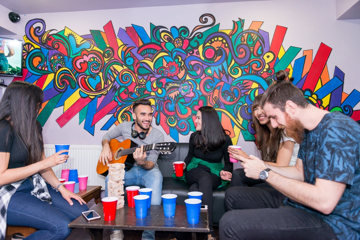 Guests having fun at Times Hostels Camden